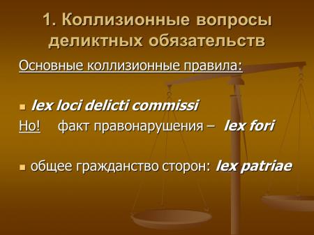 коллизионные вопросы обязательственного права